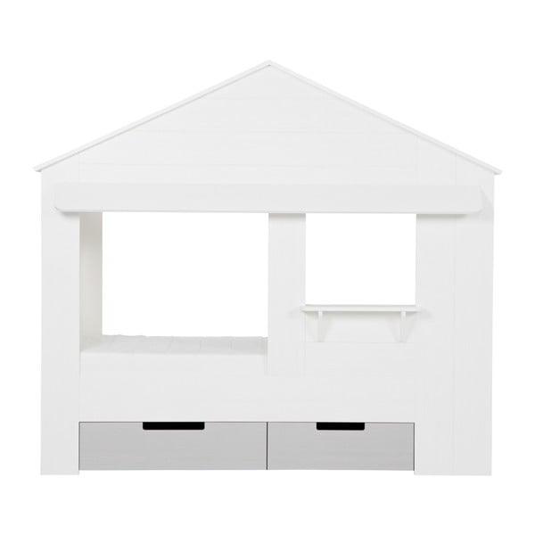 Biele spodné zásuvky k posteli DeEekhoorn Huisie