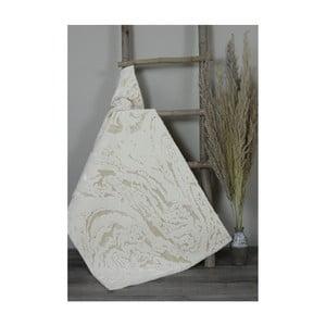 Béžová bavlnená kúpeľnová predložka My Home Plus Sensation, 60×60 cm