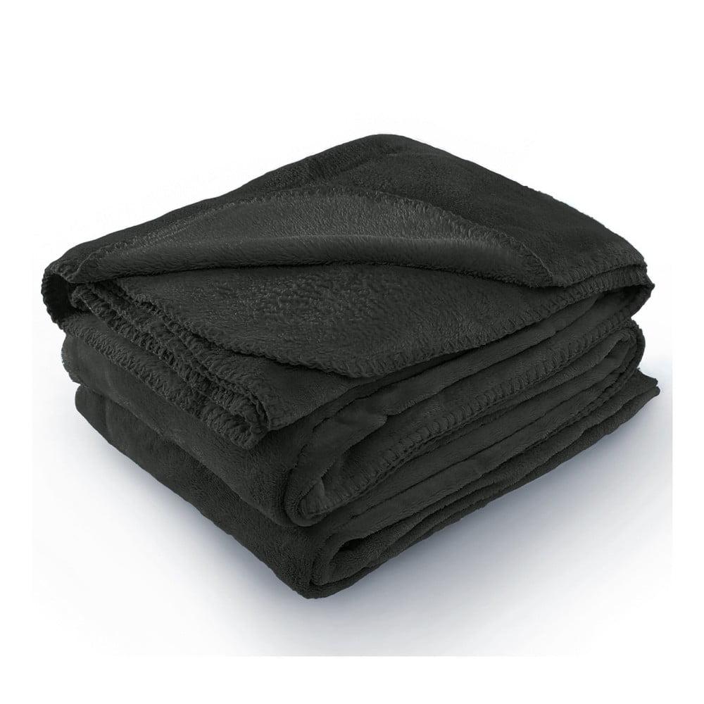 Tmavosivá deka z mikrovlákna AmeliaHome Tyler, 70 × 150 cm