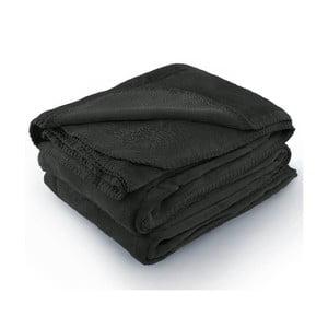 Tmavosivá deka z mikrovlákna AmeliaHome Tyler, 170 × 200 cm