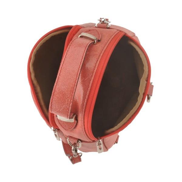 Kožená kabelka Men, korálová