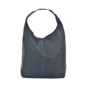 Tmavomodrá kožená kabelka Mangotti Bags Estela