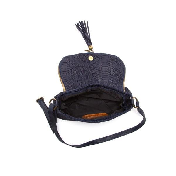 Modrá kožená kabelka Roberta M Rosetta