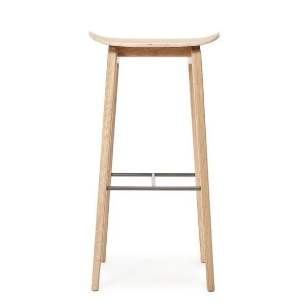 Drevená barová stolička z dubového dreva NORR11 NY11,75x35cm