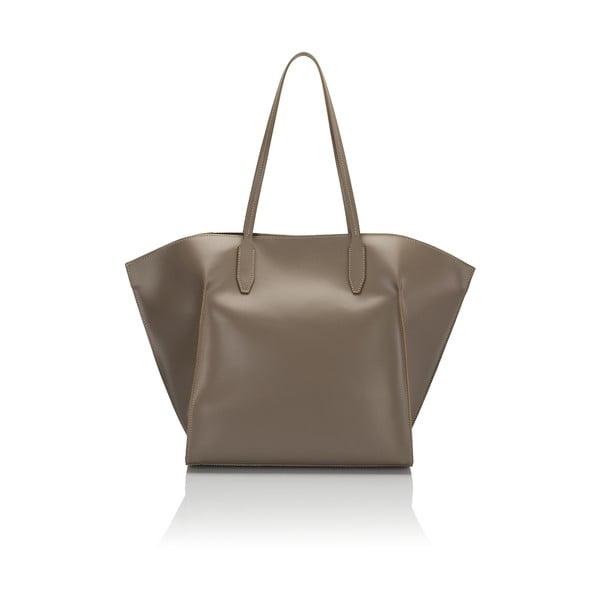 Béžová kožená kabelka Giulia Massari Latina