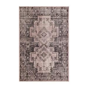 Sivý ručne viazaný vlnený koberec LinieDesignSentimental,140x200cm