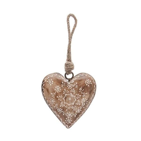 Závesná dekorácia Country Nature Heart Single