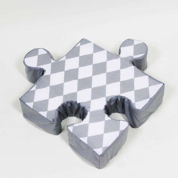 Sivý vankúšik Puzzle Rhomb