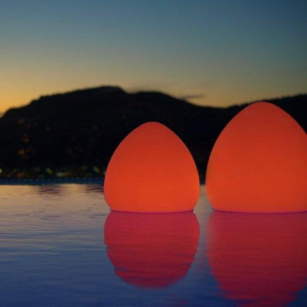 Náladové plávajúce zahradné svetlo Stone M