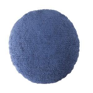 Modrý bavlnený ručne vyrobený vankúš Lorena Canals Big Dot, priemer 50 cm