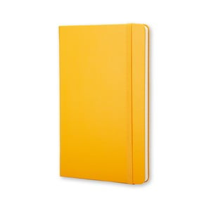 Malý žltý zápisník Moleskine Hard, štvorčekovaný