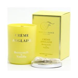 Vonná sviečka v skle zo sojového vosku s vôňou krému Anglaise Candle-Lite, doba horenia až 50 hodín