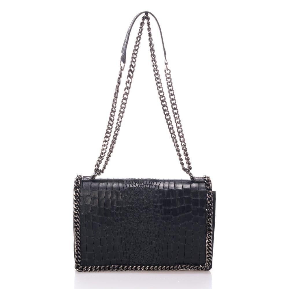 363472e306 Čierna kožená kabelka Lisa Minardi Cosma