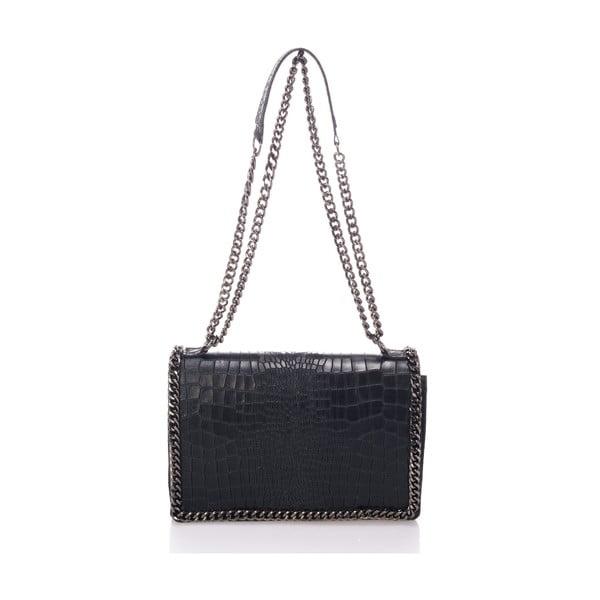 Čierna kožená kabelka Lisa Minardi Cosma