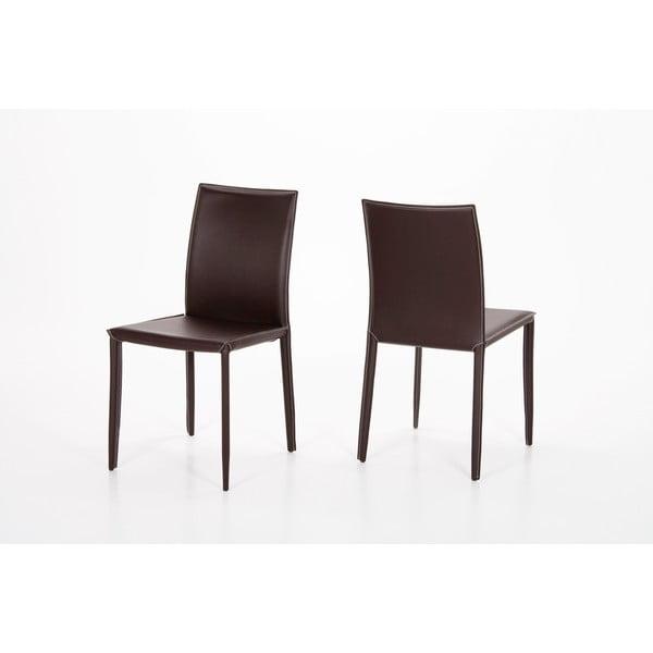 Jedálenská stolička Andrew, hnedá