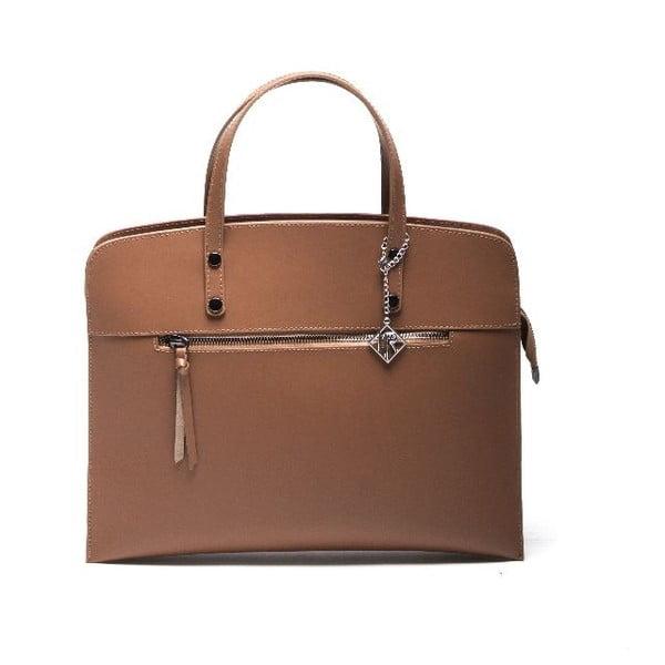 Kožená kabelka Isabella Rhea 398 Cognac