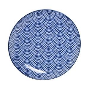 Modrý porcelánový tanier Tokyo Design Studio Dot