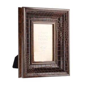 Fotorámček Brown Croco, 10x15 cm