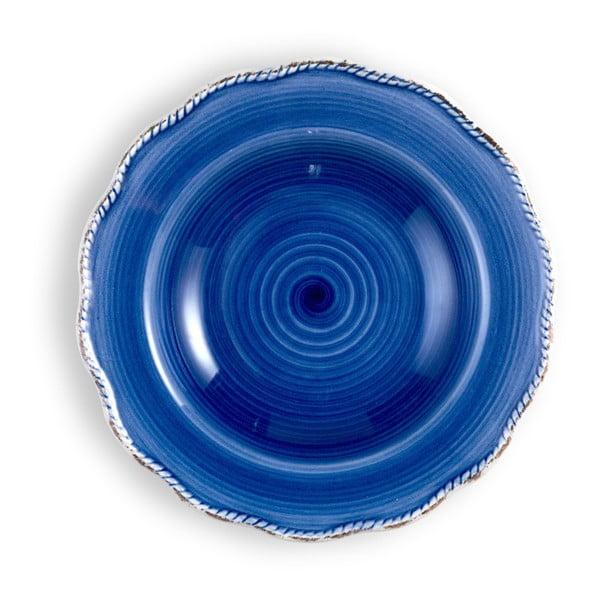Stredne veľký modrý tanier Brandani