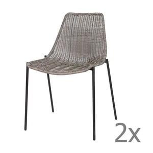 Sada 2 sivých stoličiek Morris Grey