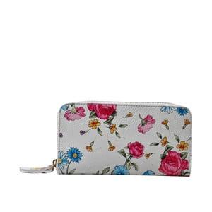 Kožená peňaženka s kvetinami Chicca Borse Flowerina