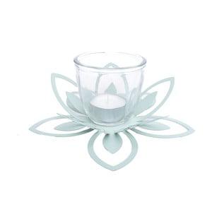 Zelený kovový svietnik Ewax Blossom, ⌀26 cm