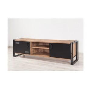 TV stolek sčernými dvířky Industrio, délka180cm