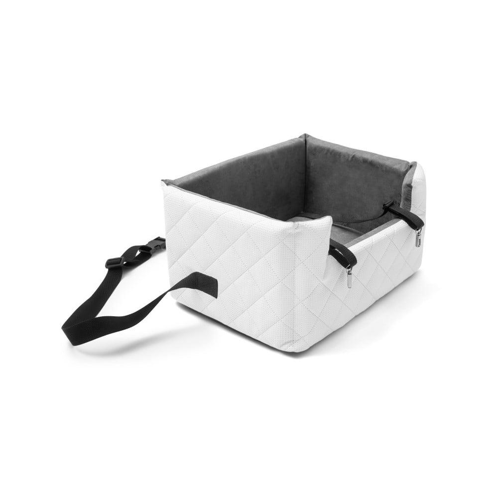 Biela prepravná taška pre psa do auta Marendog Travel, 40 × 47 × 25 cm