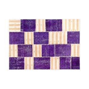 Vlnený koberec Allmode Purple, 150x80 cm
