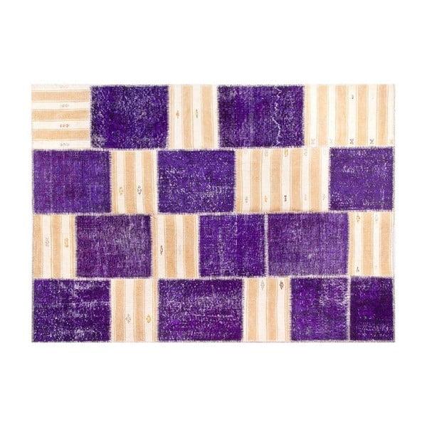 Vlnený koberec Allmode Purple, 200x140 cm