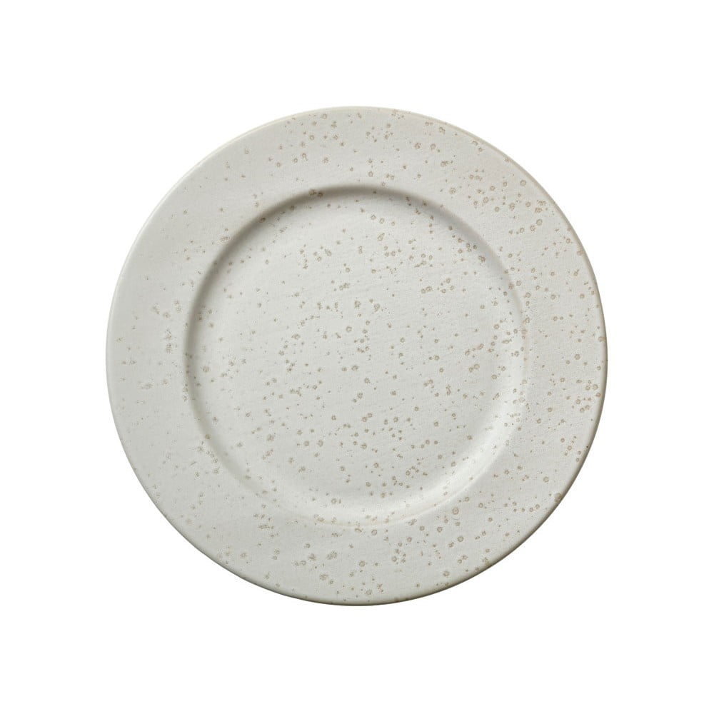 Krémovobiely kameninový plytký tanier Bitz Basics Matte Cream, ⌀ 27 cm