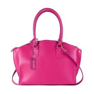 Fuksiová kožená kabelka Maison Bag Mary