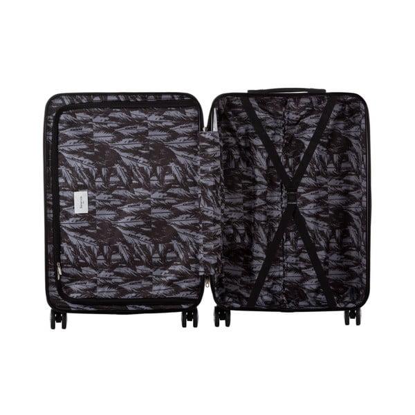Sada 3 čiernych cestovných kufrov Berenice Wings