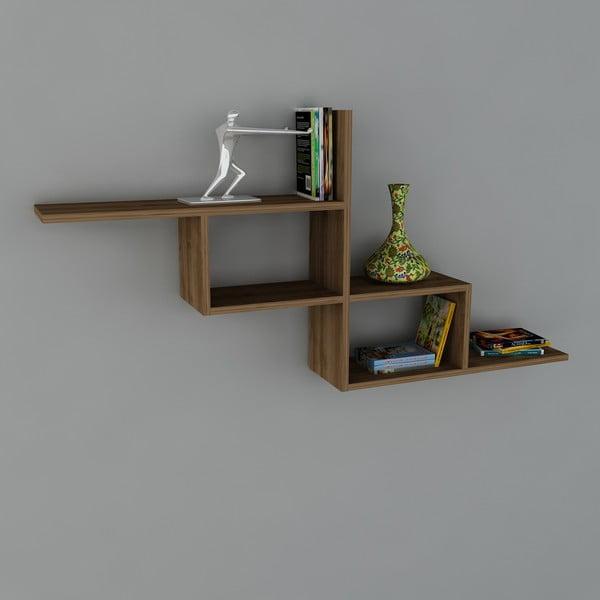 Polica Motif Book Walnut, 22x144,6x71,4 cm