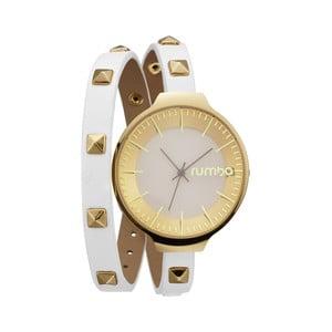 Biele hodinky s dvojitým remienkom Rumbatime Orchard Wrap