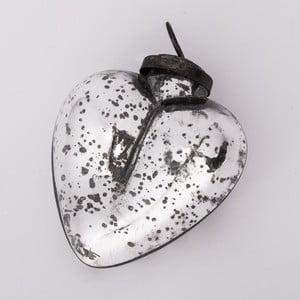 Vianočná ozdoba Srdce, 10 cm