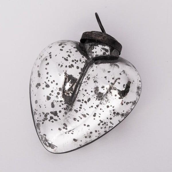 Vianočná ozdoba Srdce, 8.5 cm