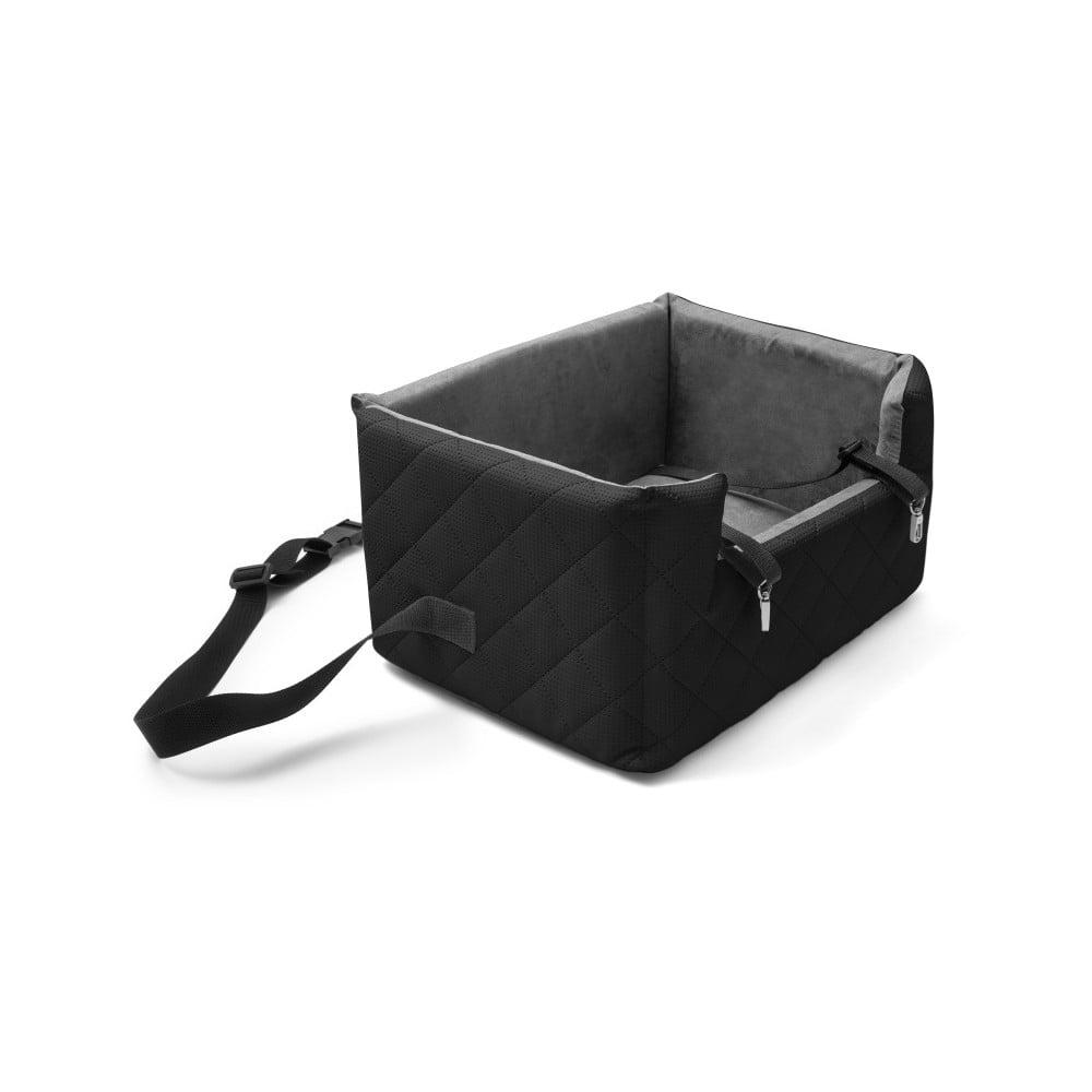 Čierna prepravná taška pre psa do auta Marendog Travel, 40 × 47 × 25 cm