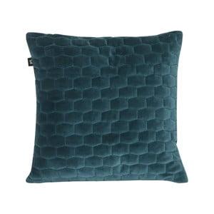 Modrý vankúš so zamatovým povrchom PT LIVING, 35 x 35 cm