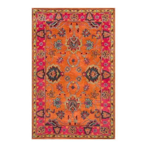 Vlnený koberec Funk Orange, 120x183 cm