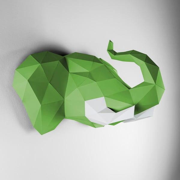 Papierová trofej Slon, zeleno-biely