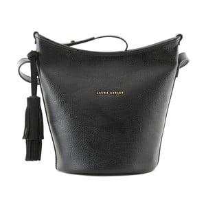 Čierna kabelka z koženky Laura Ashley Loxford