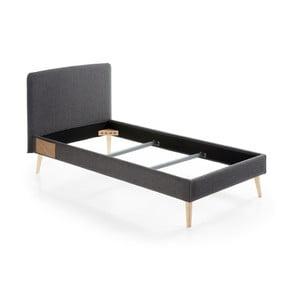 Tmavosivá jednolôžková postel La Forma Lydia, 190×90cm