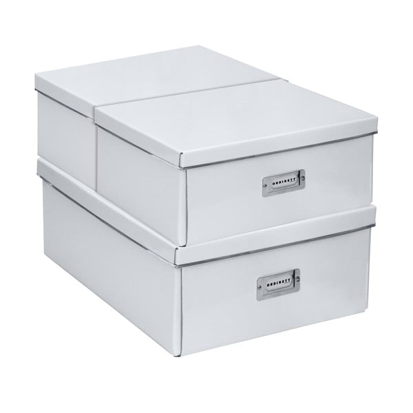 Sada 3 úložných boxov Home White
