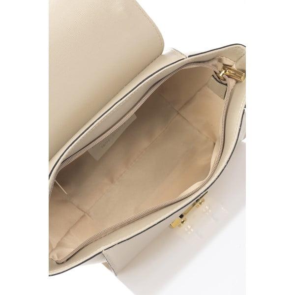 Kožená kabelka Saffiane, taupe