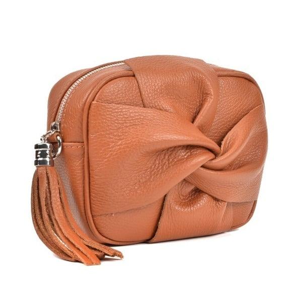 ... Koňakovohnedá kožená kabelka Roberta M Kara Cognac ... bd9cd342931