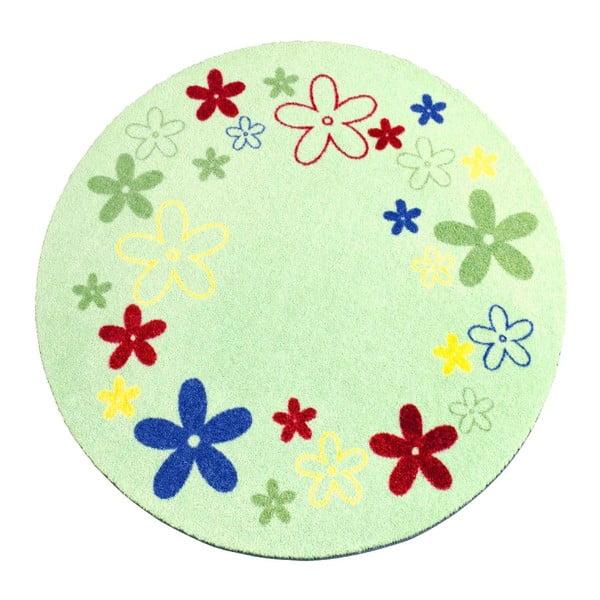 Koberec Deko - zelené kvietky, 100 cm