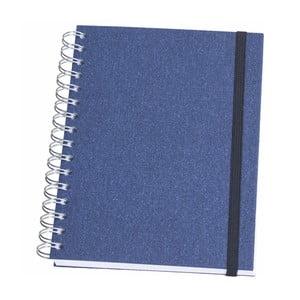 Modrý krúžkový blok Bigso, 90 strán