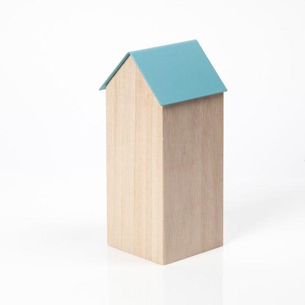 Svetlomodrý úložný box House Large