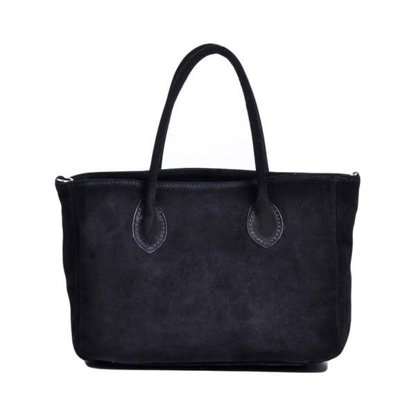 Kožená kabelka Carmina, čierna